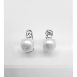 Pendientes Plata Perlas y CirconitaP025100366