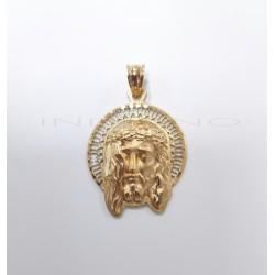 Colgante Oro Cabeza de Cristo Orla CaladaP010200223