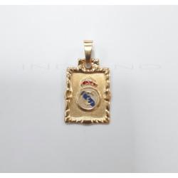 Colgante Oro Chapa Escudo Real Madrid EsmalteP010400027