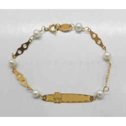 Esclava Oro Perlas y Osito0020500021