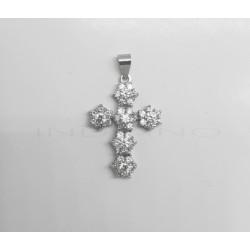 Cruz Oro Blanco Rosetas CirconitasP002301724