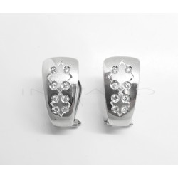 Pendientes Oro Blanco Rombos CirconitasP002301744