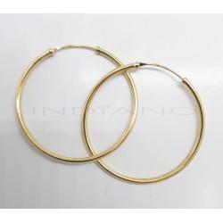Pendientes Oro Aro Liso RedondoP022500098