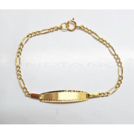 Esclava Oro Tipo Cartier 3x1