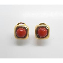 Pendientes Oro Cuadrados CoralP023001354