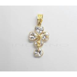 Cruz Oro Cristo Circonitas corazónP023001365