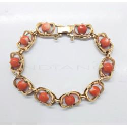 Pulsera Oro Rectángulos CoralP008501619