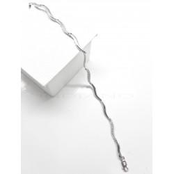 Pulsera Oro Blanco Ondas CirconitasP023001358