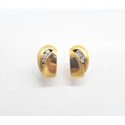 Pendientes Oro Brillantes Mate y BrilloP010500012
