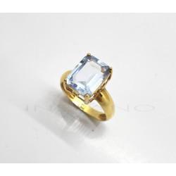 Sortija Oro Piedra Rectangular AzulP010200333
