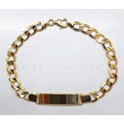 Esclava Oro Barbada Plana HuecaP022400134