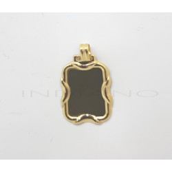 Chapa Oro Rectangular Ondas LateralesP010300290