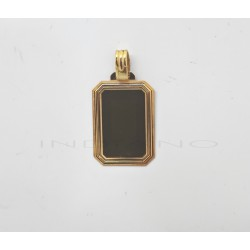 Chapa Oro Rectangular Marco MatizadoP011000092