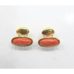 Pendientes Oro Coral OvaladosP002800663