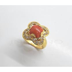 Sortija Oro Flor Coral CirconitasP005700052