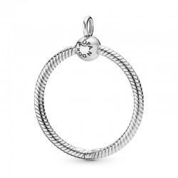 Colgante O Pandora mediano en plata ley398256