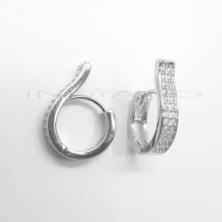 Pendientes Plata Curvados CirconitasP025100502