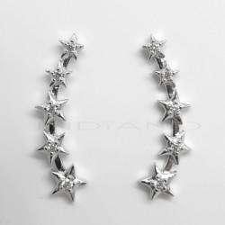 Pendiente Plata Trepador EstrellasP025100504