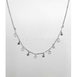 Gargantilla Plata Estrellas y CirconitasP025100527
