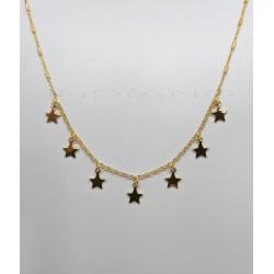 Gargantilla Plata Chapada Siete EstrellasP025100529