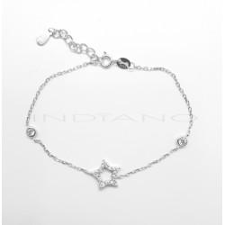 Pulsera Plata Estrella y Chatón CirconitaP025100598