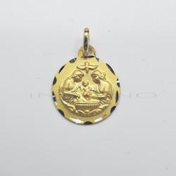 Medalla Oro Bautismo RedondaP010300352