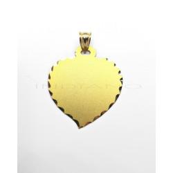 Chapa Oro Corazón Borde LabradoP010300353