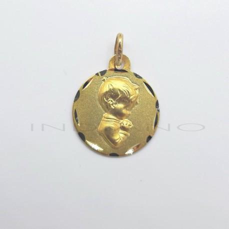 Medalla Oro Niño Rezando