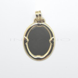 Chapa Oro Ovalada Marco OnduladoP010300358