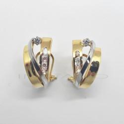 Pendientes Oro BicolorP010200602