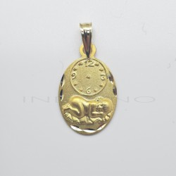 Medalla Oro Niño Tumbado y RelojP010300051