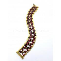 Pulsera Oro Ancha GranatesP002900098