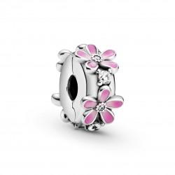 Clip Pandora de Flor de Margarita Rosa798809C01