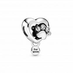 Charm Pandora Pata Brillante y Encanto de Corazón798873C01