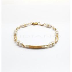Esclava Oro Bicolor PerlasP002000613