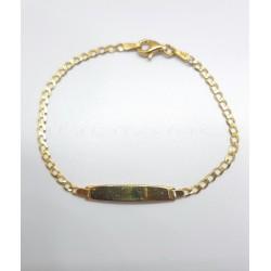 Esclava Oro Chapa Lisa Bilbaina.P011000062