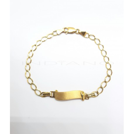Esclava Oro Chapa Pergamino Matizado