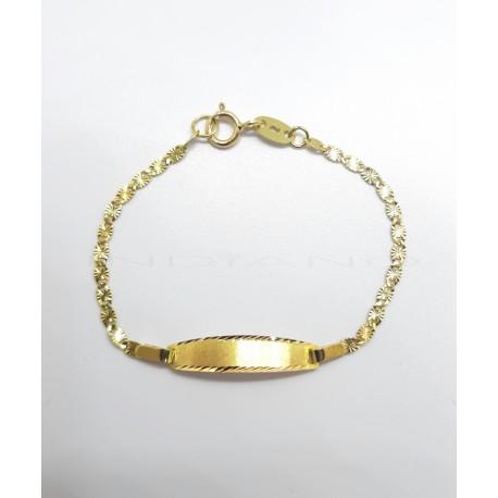 Esclava Oro Eslabón Lapidado