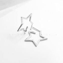 Pendientes Plata Tipo Aro EstrellaP026600019