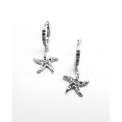 Pendientes Plata Aros y Estrellas de MarP026600015