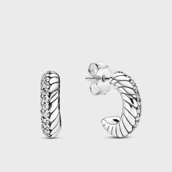 Pendientes de Aro Pandora Cadena de Serpiente299091C01