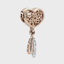 Charm Pandora Rose Atrapasueños Corazón en filigrana y Plumas789068C00