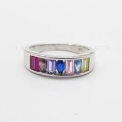 Sortija Plata Circonitas Colores MarquísP025100735