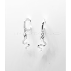Pendientes Plata Aros y Serpiente ColgandoP025100802