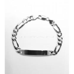 Esclava Plata Tipo Cartier 3x1 RodiadaP017701403