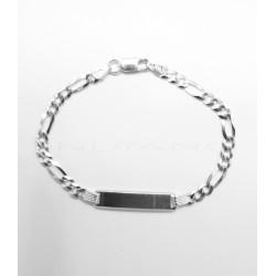 Esclava Plata Tipo Cartier 3x1 RodiadaP017701409