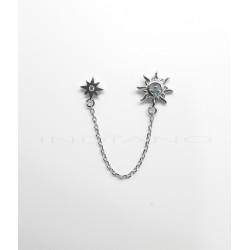 Pendientes Plata Doble Motivo CadenaP026600095