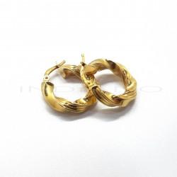 Pendientes Oro Aro Retorcido GalloneadoP023001075