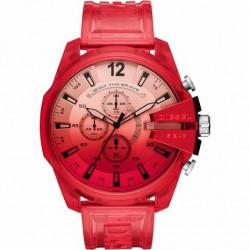 Reloj Diesel Mega Chief Rojo FosforitoDZ4534