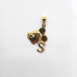 Colgante Oro Mickey Letra SP011001018
